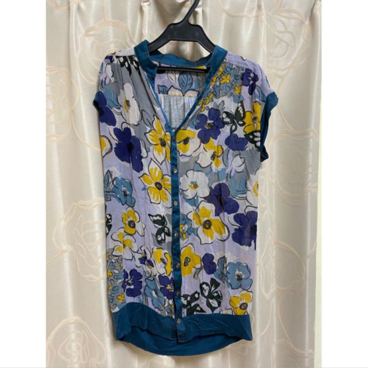 シャツ 半袖 花柄