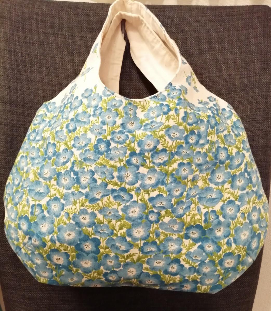 ハンドメイド バッグ ネモフィラ ころんバッグ ころりんバッグ 丸いバッグ
