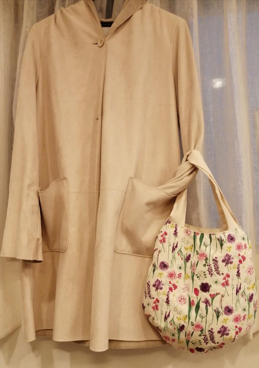 ハンドメイド バッグ 北欧 花柄 卵型バッグ ころんバッグ ラウンドバッグ