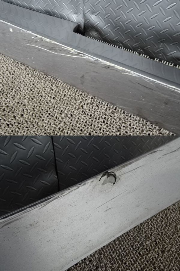 社外 AP1 S2000 前期 サイドステップ サイドスカート 左右 セット ダクト付 シルバー FRP製 AP2_画像8