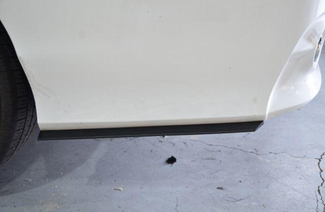 フォルクスワーゲン 取付例あり 汎用ハイグレードサイドスポイラーtype2 ローダウン エアロ バンパー 加工 DIY カナード デフューザー _画像8