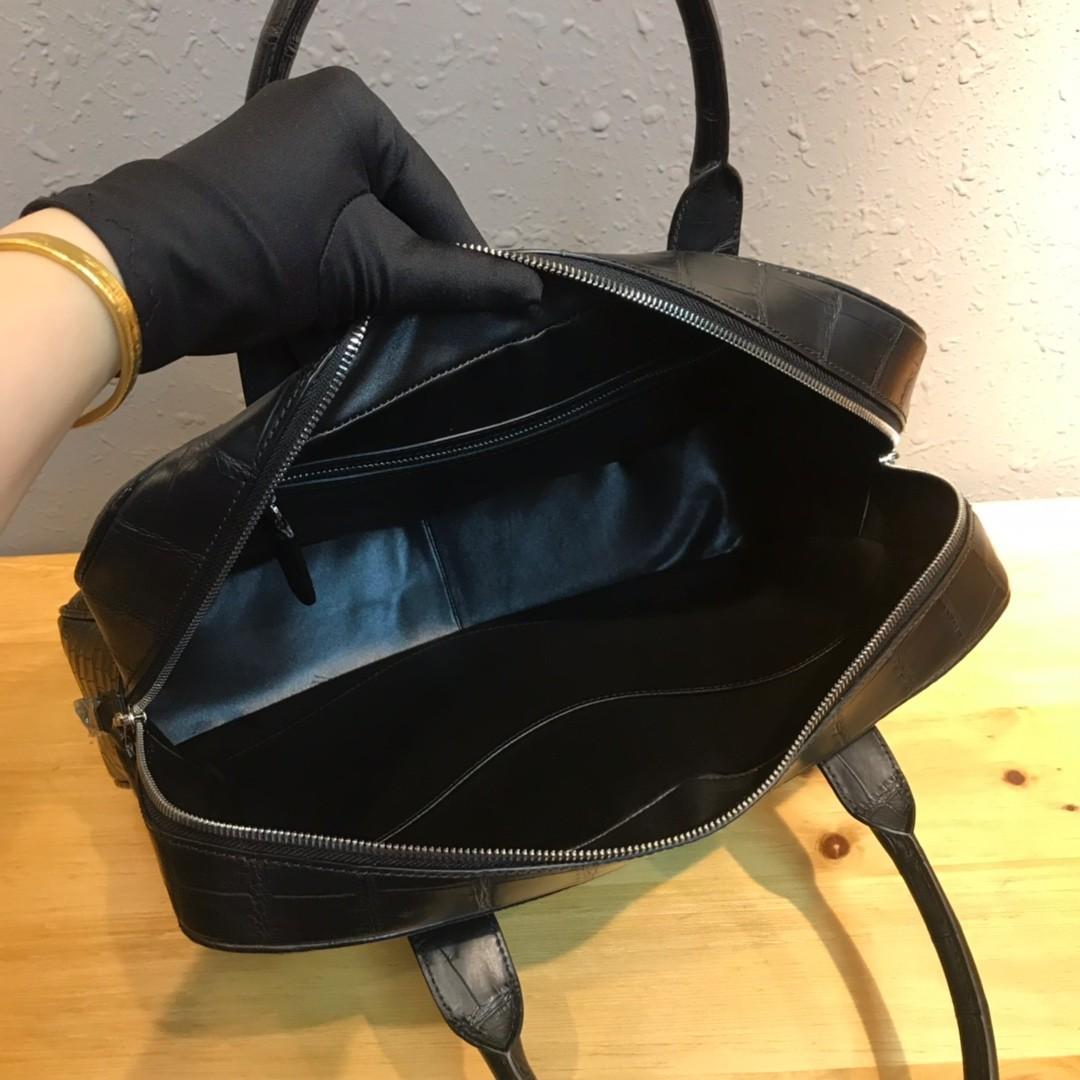 ワニ革 クロコダイルレザー 本革 2way ショルダーバッグ A4書類対応 旅行通勤 斜め掛けブリーフケース ビジネス ハンドバッグ 鞄 メンズ_画像9
