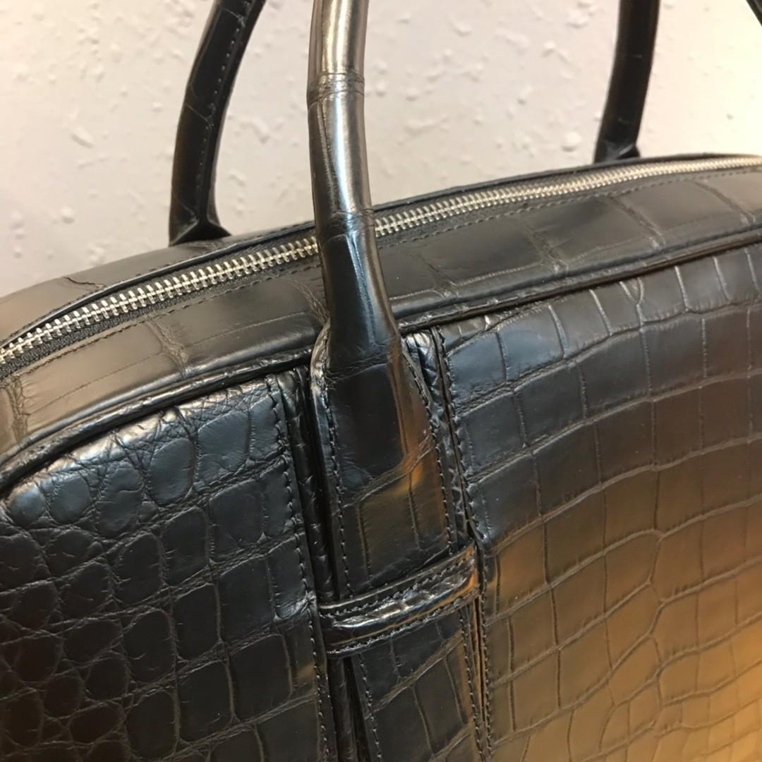 ワニ革 クロコダイルレザー 本革 2way ショルダーバッグ A4書類対応 旅行通勤 斜め掛けブリーフケース ビジネス ハンドバッグ 鞄 メンズ_画像7
