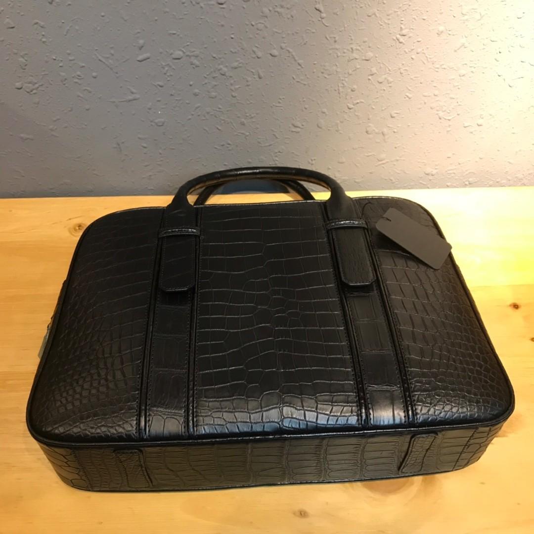 ワニ革 クロコダイルレザー 本革 2way ショルダーバッグ A4書類対応 旅行通勤 斜め掛けブリーフケース ビジネス ハンドバッグ 鞄 メンズ_画像5