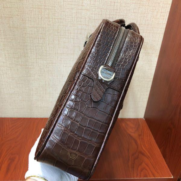 ワニ革 クロコダイル 本革 レザー トート 斜め掛け ショルダー付き ブリーフケース メンズ ビジネス ハンドバッグ2way 通勤 鞄 A4/PC対応_画像4