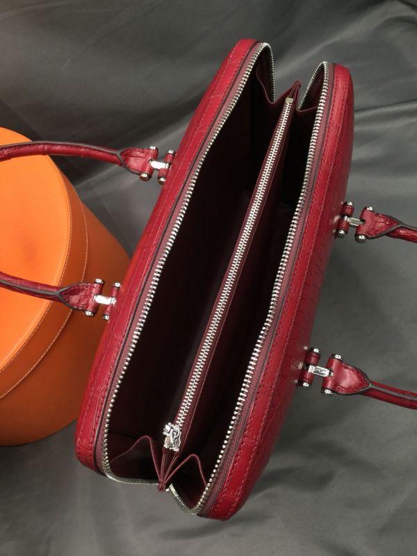 ワニ革 クロコダイル レザー 本革 メンズ 斜め掛け ショルダーバッグ ビジネス A4書類対応 ブリーフケース トート ハンドバッグ 鞄 通勤用_画像6