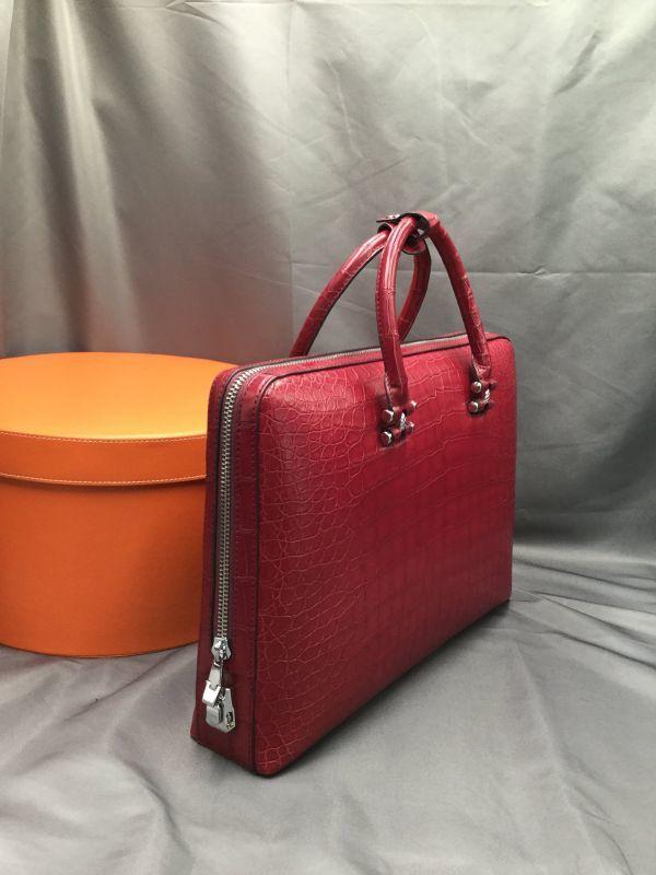 ワニ革 クロコダイル レザー 本革 メンズ 斜め掛け ショルダーバッグ ビジネス A4書類対応 ブリーフケース トート ハンドバッグ 鞄 通勤用_画像4
