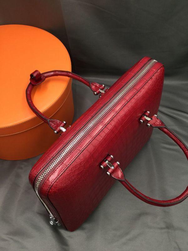 ワニ革 クロコダイル レザー 本革 メンズ 斜め掛け ショルダーバッグ ビジネス A4書類対応 ブリーフケース トート ハンドバッグ 鞄 通勤用_画像5