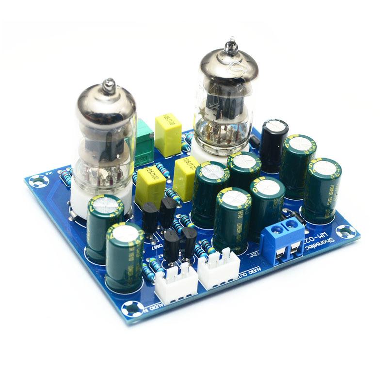 真空管プリアンプ 作成キット 6J1 ステレオ構成 電源AC12V_画像1