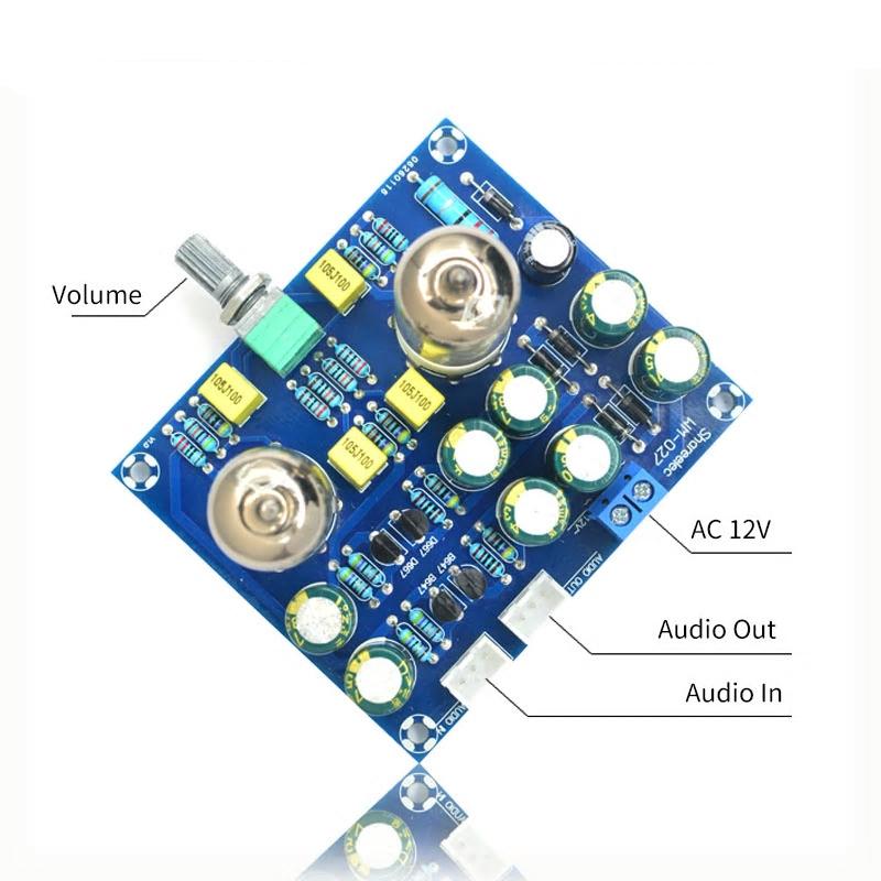 真空管プリアンプ 作成キット 6J1 ステレオ構成 電源AC12V_画像3