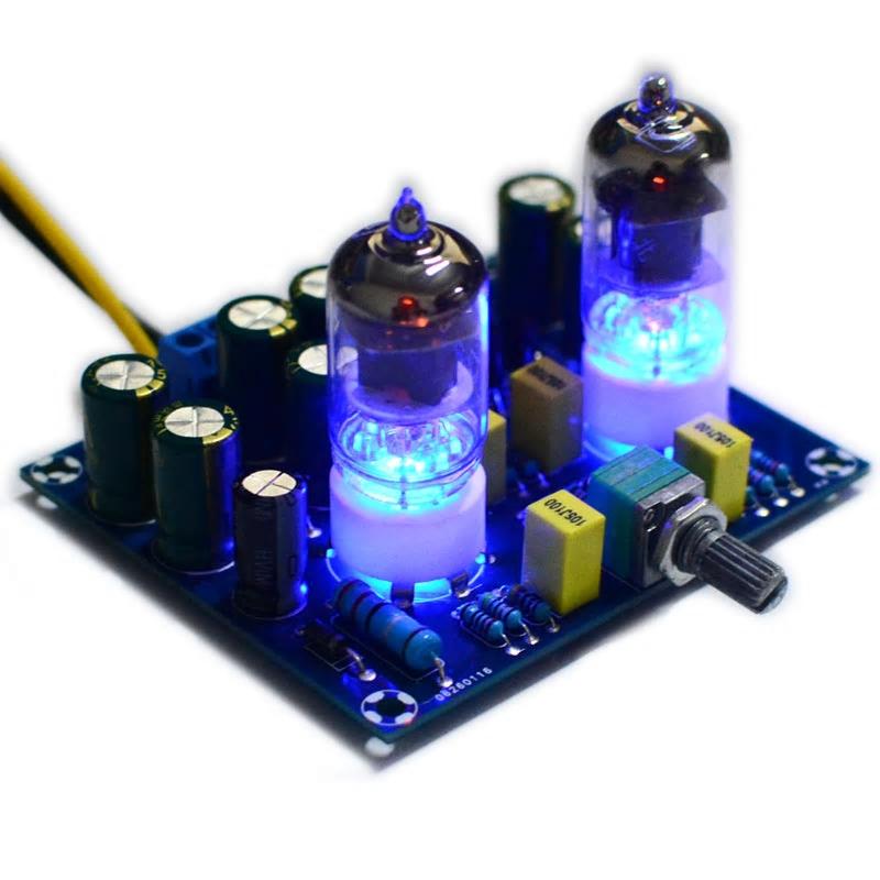 真空管プリアンプ 作成キット 6J1 ステレオ構成 電源AC12V_画像4
