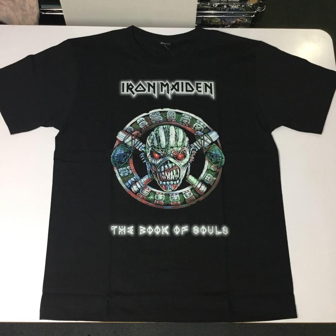 バンドデザインTシャツ Lサイズ アイアンメイデン IRON MAIDEN ① SR6B2