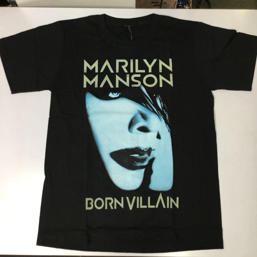 バンドデザインTシャツ Mサイズ マリリンマンソン MARILYN MANSON SR6A2