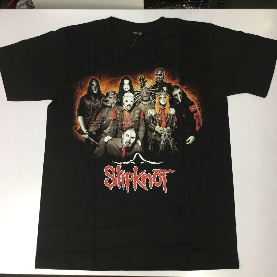 バンドデザインTシャツ Mサイズ スリップノット SlipknoT ① SR6A2