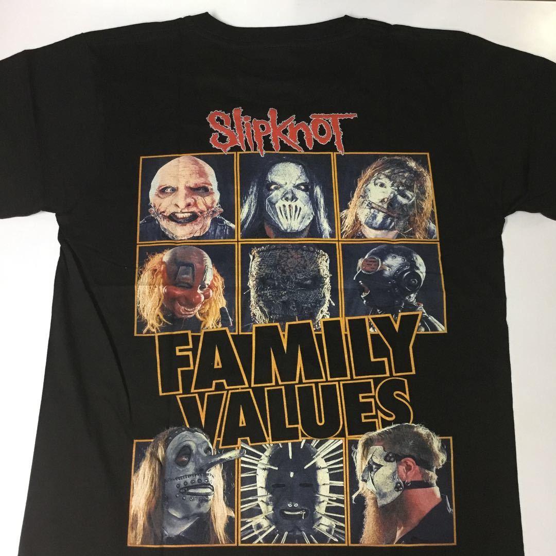 バンドデザインTシャツ Mサイズ スリップノット SlipknoT ② SR6A2