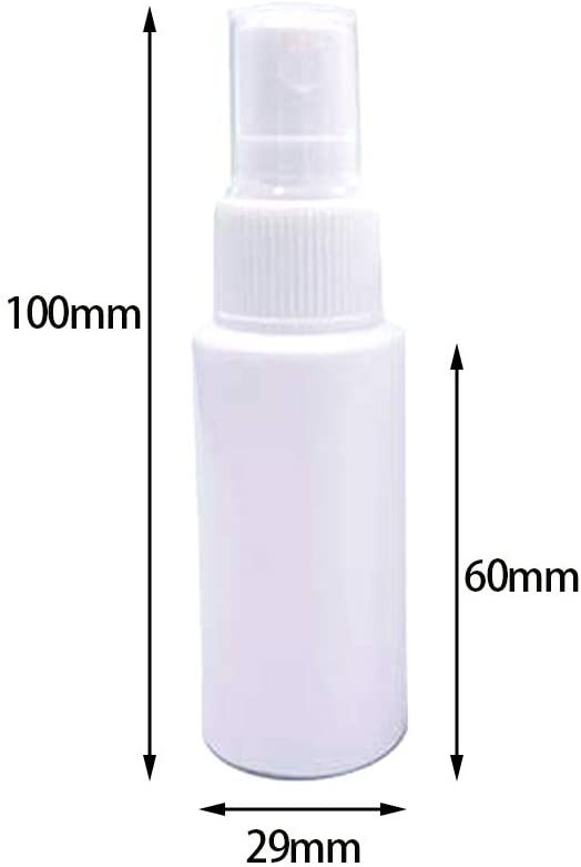 【新品・送料無料】スプレー ボトル 30ml×5本 セット 詰め 変え 容器 PE素材 除菌 アルコール 次亜塩素酸水対応 持ち運びにも便利_画像7