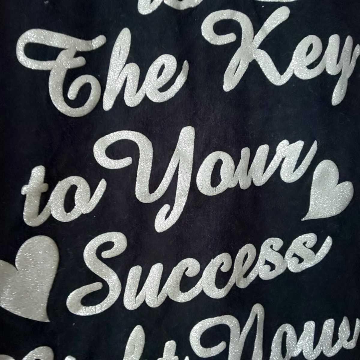 1円スタート! 100cm 半袖Tシャツ キッズ 女の子 保育園 幼稚園 私服 洗い替え 黒 ブラック ロゴT akichan7777jp_画像5