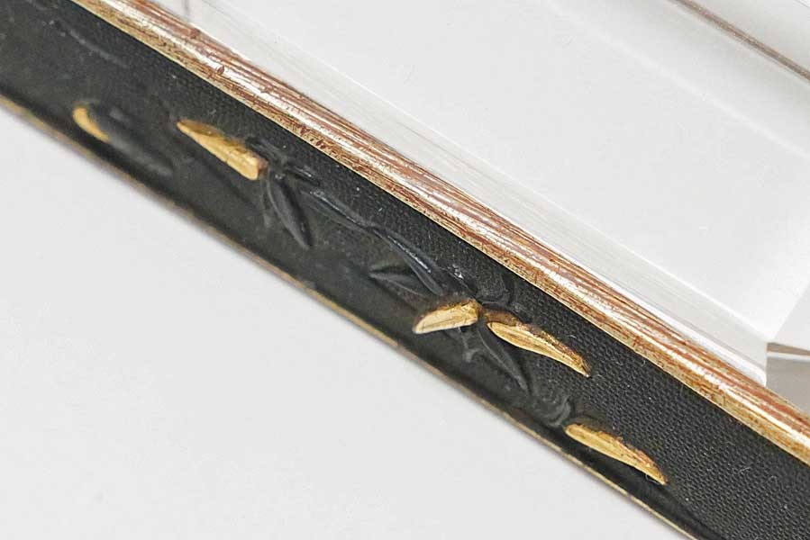 赤銅魚子地流水竹笹図笄   刀装具 太刀 拵 鍔 小柄笄_画像9
