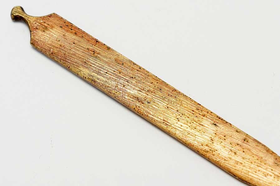 赤銅魚子地流水竹笹図笄   刀装具 太刀 拵 鍔 小柄笄_画像6