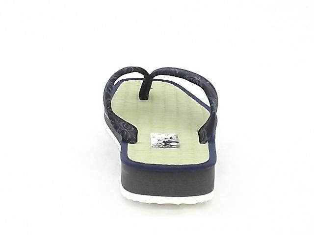 畳草履 鼻緒 1156 Lサイズ(26.0cm) 紺⑧ いぐさ スポンジ底 軽量_画像4
