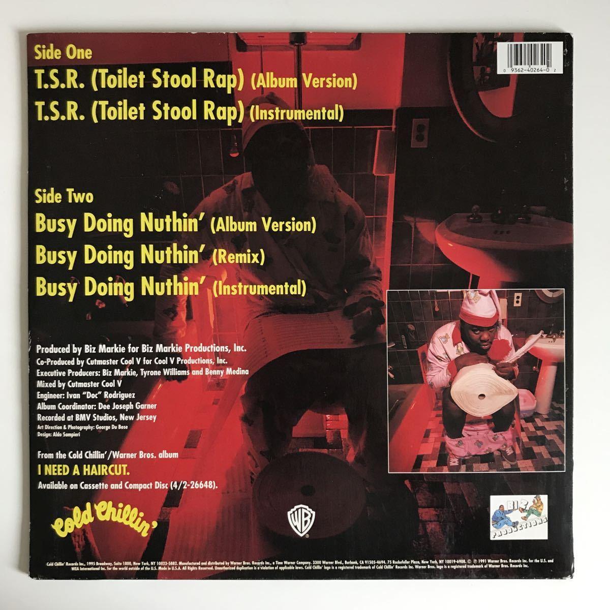 Biz Markie - T.S.R. (Toilet Stool Rap) / Busy Doing Nuthin'【US Orig.】【オリジナル】_画像2