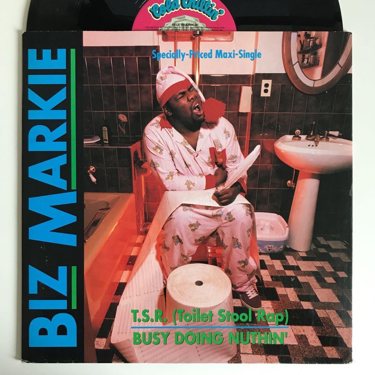 Biz Markie - T.S.R. (Toilet Stool Rap) / Busy Doing Nuthin'【US Orig.】【オリジナル】_画像1