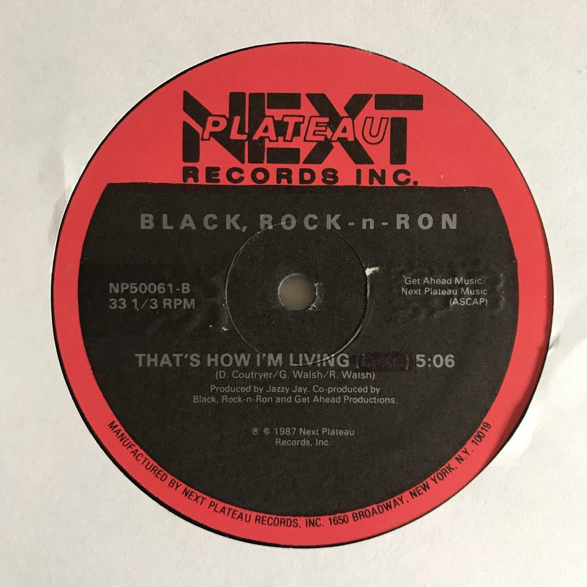 Black, Rock-n-Ron - That's How I'm Living【US Orig.】【オリジナル】_画像2