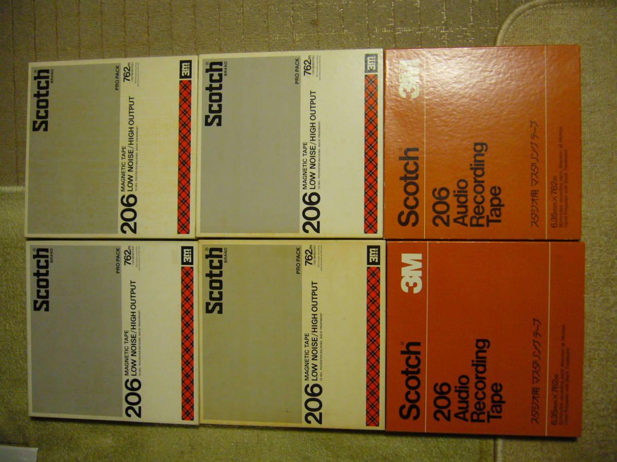 Scotch 10吋テープ・(206)6本を出品します {代理出品}です