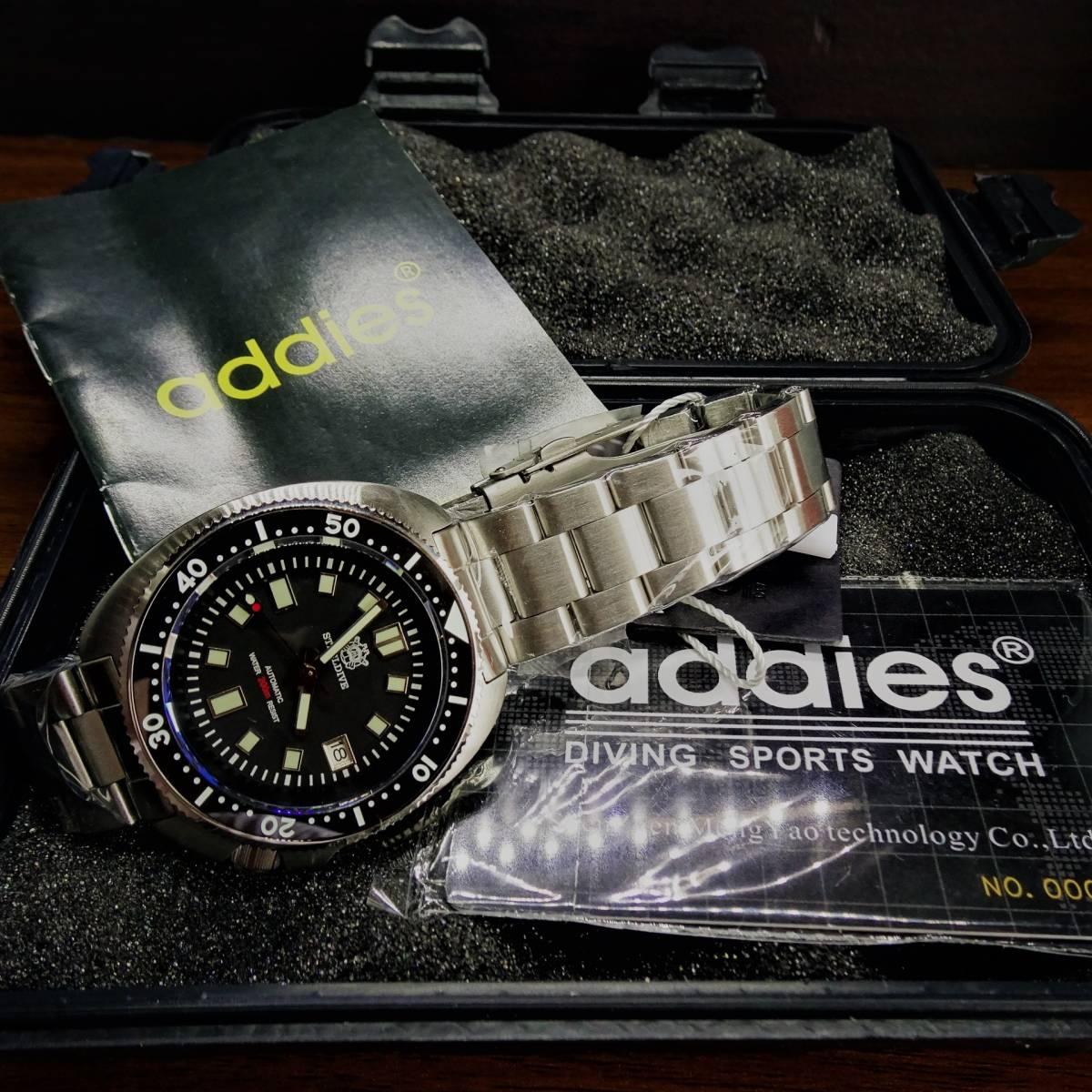 新品〓自動巻きSteeldiveプロダイバー腕時計 200 メートル防水NH35ムーブメント高質機械式腕時計〓セラミックベゼルOEMモデルメタルベルト