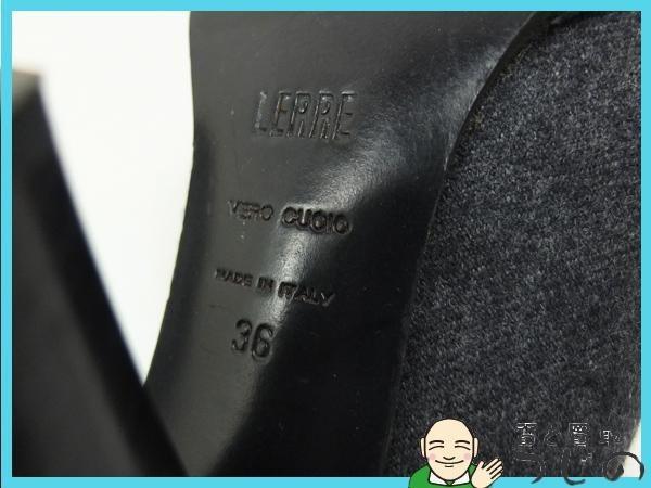 送料無料 レッレ パンプス グレー #36 23cm ヒール レディースシューズ Lerre 質屋 神戸つじの_画像10