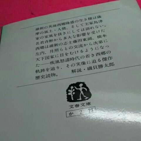 ☆開運・招福!☆A07☆ねこまんま堂☆おまとめがお得! 海音寺潮五郎 西郷隆盛_画像3