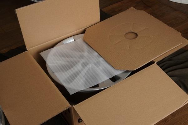 お買い得アルミホイール RIVAZZA 6.5JX15 インセット50 4本セット 送料全国一律 宮城県名取市~_この様に梱包して発送致します