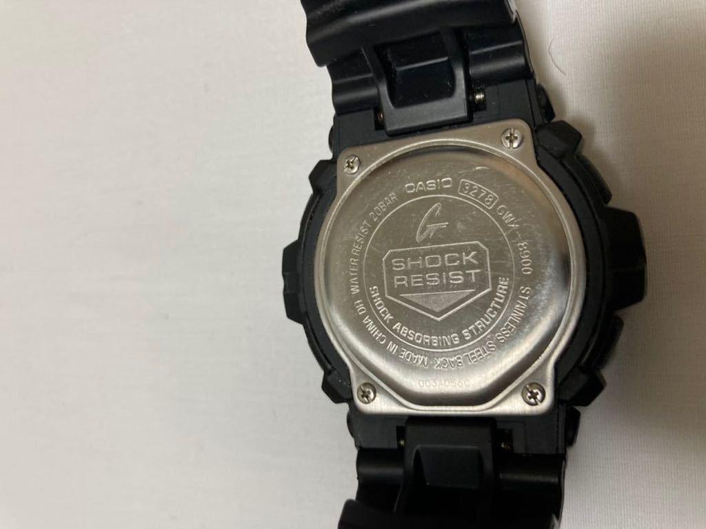 カシオ 腕時計 G-SHOCK G-LIDE 電波ソーラー GWX-8900 ブラック ジーショック G SHOCK CASIO ジャンク品_画像2