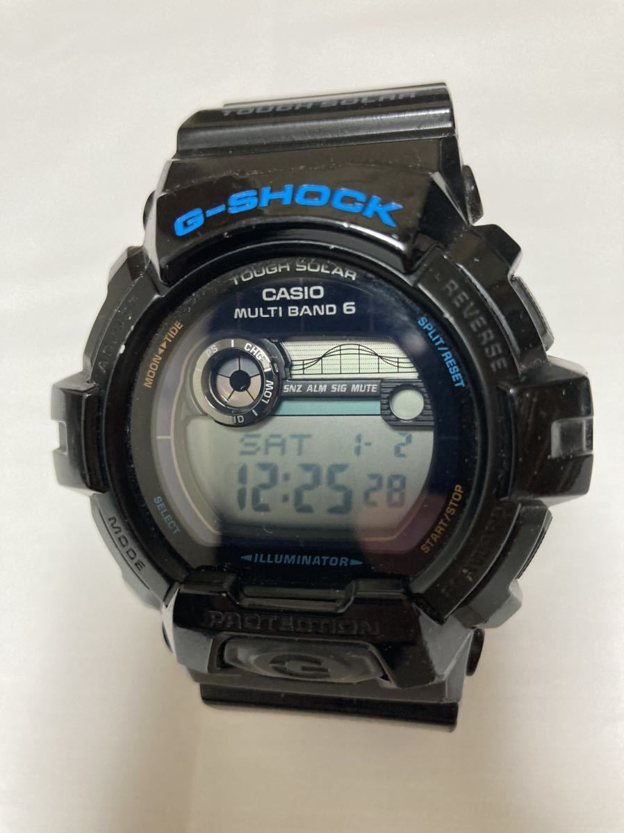 カシオ 腕時計 G-SHOCK G-LIDE 電波ソーラー GWX-8900 ブラック ジーショック G SHOCK CASIO ジャンク品_画像1