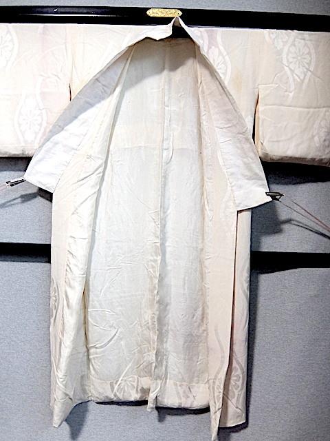 重②265)オフ袷長襦袢 身丈125 袖丈43 袖巾31 裄62 前巾22 後巾30_画像2