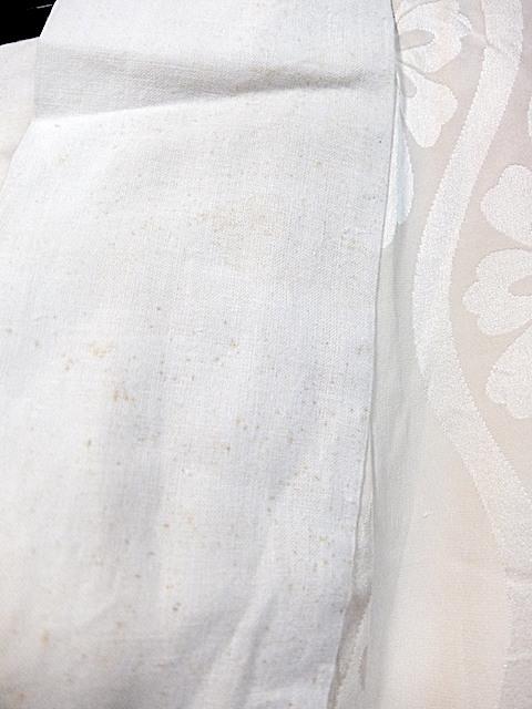 重②265)オフ袷長襦袢 身丈125 袖丈43 袖巾31 裄62 前巾22 後巾30_画像4