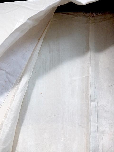 重②265)オフ袷長襦袢 身丈125 袖丈43 袖巾31 裄62 前巾22 後巾30_画像5