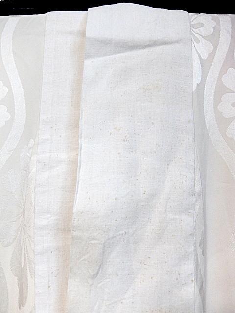 重②265)オフ袷長襦袢 身丈125 袖丈43 袖巾31 裄62 前巾22 後巾30_画像6