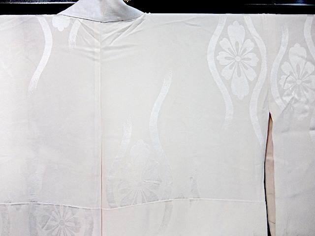 重②265)オフ袷長襦袢 身丈125 袖丈43 袖巾31 裄62 前巾22 後巾30_画像8