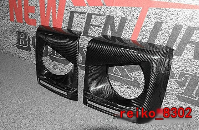メルセデス ベンツ W463 GクラスG350d/G320/G500/G550/AMG G55/AMG G63/AMG G65  カーボン製 ヘッドライトカバー デイライト_画像6