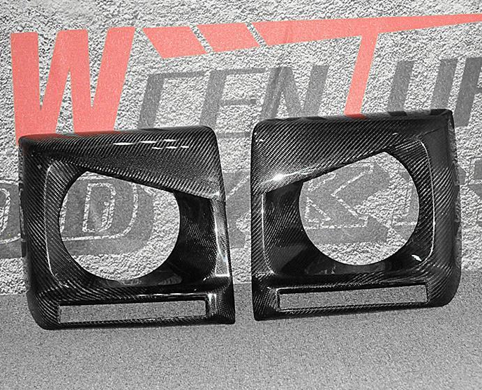 メルセデス ベンツ W463 GクラスG350d/G320/G500/G550/AMG G55/AMG G63/AMG G65  カーボン製 ヘッドライトカバー デイライト_画像2