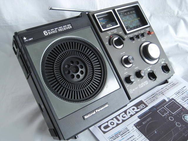 BCL ナショナルパナソニック クーガ118(RF-1180) 動作品 ジャイロアンテナ 深夜放送 短波放送 昭和トランジスタラジオ コロナ禍 令和