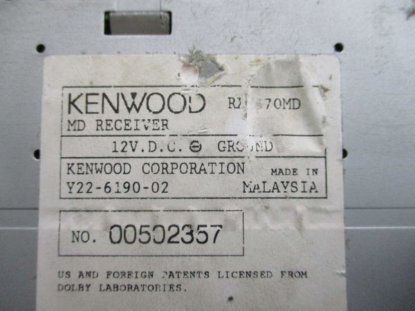 KENWOOD ケンウッド MD FM AM ラジオ デッキ レシーバー 1DIN RX-670MD 即納 ジャンク_画像5
