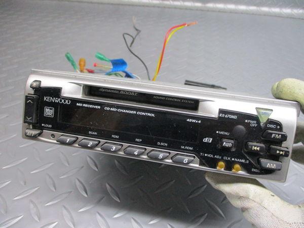 KENWOOD ケンウッド MD FM AM ラジオ デッキ レシーバー 1DIN RX-670MD 即納 ジャンク_画像2