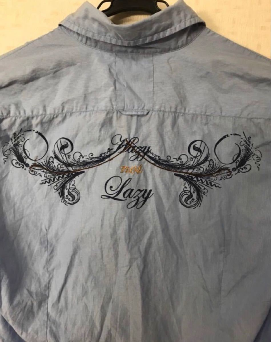 GUESS JEANS ブルーシャツ XL 送料込み 長袖シャツ