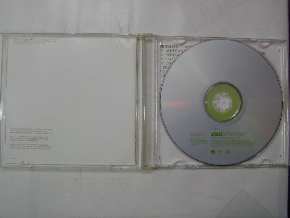 CDアルバム+ボーナストラック 2枚組 輸入盤[ zed silencer ] 10曲 送料込_画像3