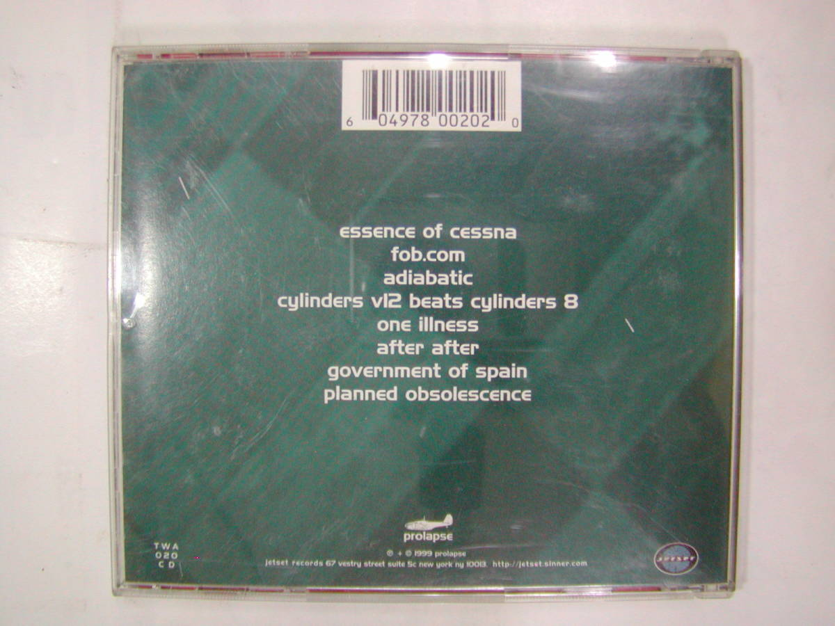 CDアルバム 輸入盤[ prolapse ]ghosts of dead aeroplanes 8曲 送料込_画像2