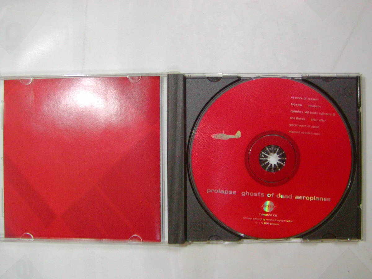 CDアルバム 輸入盤[ prolapse ]ghosts of dead aeroplanes 8曲 送料込_画像3
