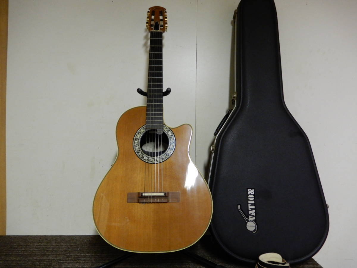 Ovation Classic Model 1763 Made in USA オベーション クラシック ナイロン エレガットギター 純正ハードケース付き