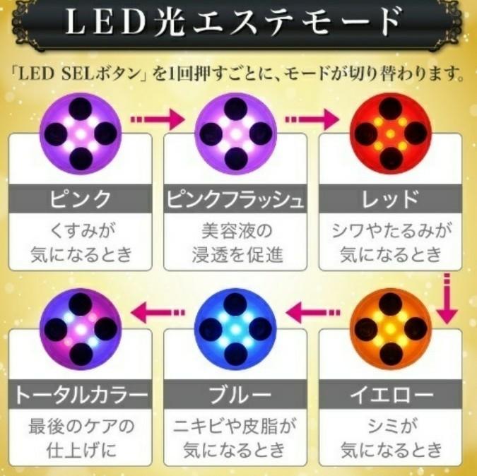 LED EMS 美顔器 フェイスケア 光エステ